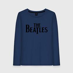 Лонгслив хлопковый женский The Beatles цвета тёмно-синий — фото 1