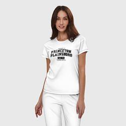 Пижама хлопковая женская Princeton Plainsboro цвета белый — фото 2