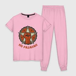 Пижама хлопковая женская No Pasaran цвета светло-розовый — фото 1