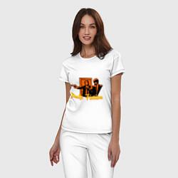 Пижама хлопковая женская Pulp Fiction цвета белый — фото 2