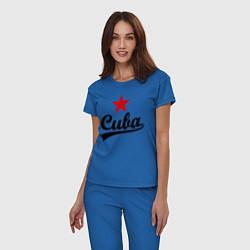 Пижама хлопковая женская Cuba Star цвета синий — фото 2