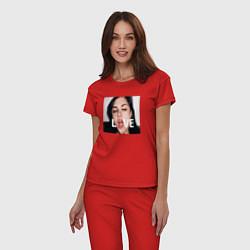 Пижама хлопковая женская Sasha Grey LOVE цвета красный — фото 2