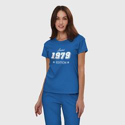 Пижама хлопковая женская Limited Edition 1979 цвета синий — фото 2