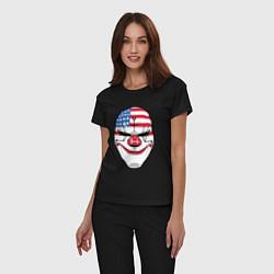 Пижама хлопковая женская American Mask цвета черный — фото 2