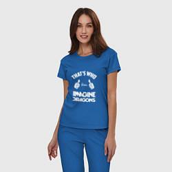 Пижама хлопковая женская That's Who Loves Imagine Dragons цвета синий — фото 2
