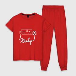 Пижама хлопковая женская Muse: Baby цвета красный — фото 1
