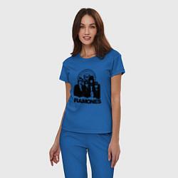 Пижама хлопковая женская Ramones Boys цвета синий — фото 2