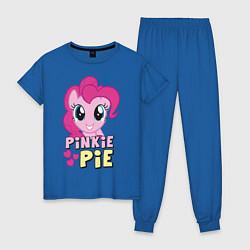 Пижама хлопковая женская Красавица Пинки Пай цвета синий — фото 1