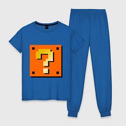 Пижама хлопковая женская Mario box цвета синий — фото 1