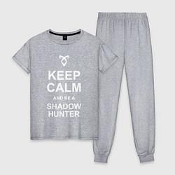 Пижама хлопковая женская Be a Shadowhunter цвета меланж — фото 1