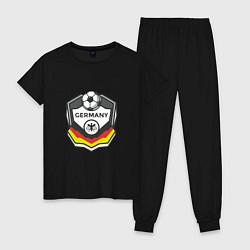Пижама хлопковая женская Germany League цвета черный — фото 1