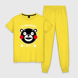 Пижама хлопковая женская Kumamon цвета желтый — фото 1