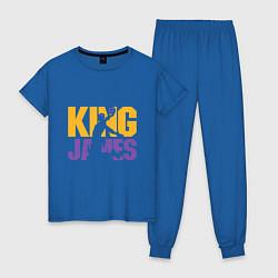 Пижама хлопковая женская King James цвета синий — фото 1