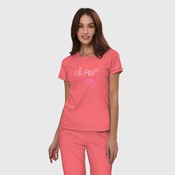Пижама хлопковая женская Lil Peep цвета коралловый — фото 2