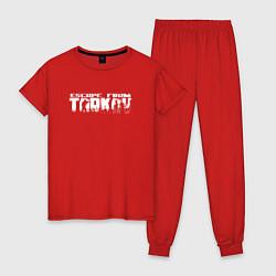 Пижама хлопковая женская ESCAPE FROM TARKOV цвета красный — фото 1