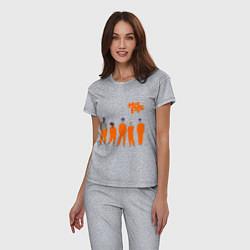 Пижама хлопковая женская Misfits Orange цвета меланж — фото 2