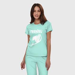 Пижама хлопковая женская FAIRY TAIL цвета мятный — фото 2