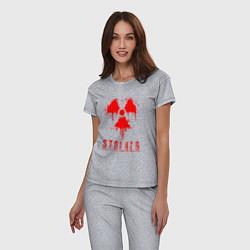 Пижама хлопковая женская S T A L K E R 2 цвета меланж — фото 2