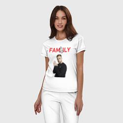 Пижама хлопковая женская ЕГОР КРИД - FAMILY цвета белый — фото 2