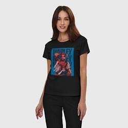 Пижама хлопковая женская Harley Quinn Harley Quinn цвета черный — фото 2