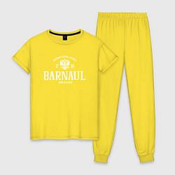 Пижама хлопковая женская Барнаул Born in Russia цвета желтый — фото 1