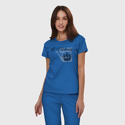 Пижама хлопковая женская St'Petersburg цвета синий — фото 2