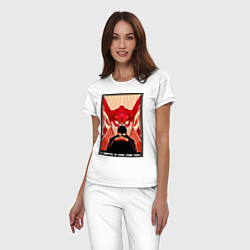 Пижама хлопковая женская Евангелион цвета белый — фото 2