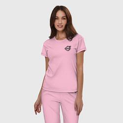 Пижама хлопковая женская VOLVO цвета светло-розовый — фото 2