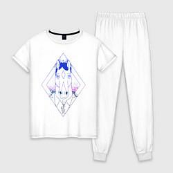 Пижама хлопковая женская BoJack Horseman цвета белый — фото 1