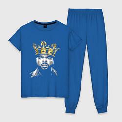 Пижама хлопковая женская Ice Cube King цвета синий — фото 1