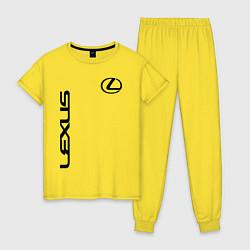 Пижама хлопковая женская LEXUS цвета желтый — фото 1