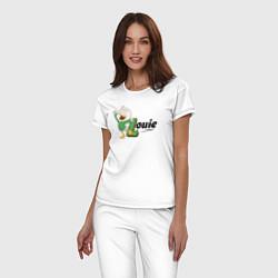 Пижама хлопковая женская Louie цвета белый — фото 2