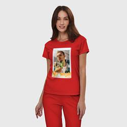 Пижама хлопковая женская Max Barskih цвета красный — фото 2