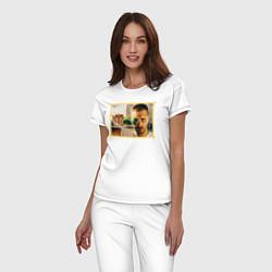 Пижама хлопковая женская Max Barskih цвета белый — фото 2