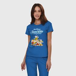 Пижама хлопковая женская Семь гномов цвета синий — фото 2