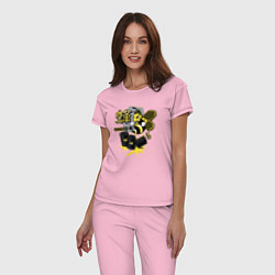 Пижама хлопковая женская Breaking Bad цвета светло-розовый — фото 2
