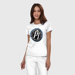 Пижама хлопковая женская AJ Styles Phenomenal цвета белый — фото 2