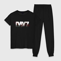 Пижама хлопковая женская DayZ цвета черный — фото 1