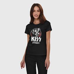 Пижама хлопковая женская KiSS Logo цвета черный — фото 2