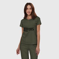 Пижама хлопковая женская Watch Dogs: Error цвета меланж-хаки — фото 2