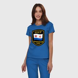 Пижама хлопковая женская Черноморский флот СССР цвета синий — фото 2