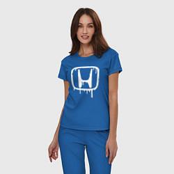 Пижама хлопковая женская Honda цвета синий — фото 2