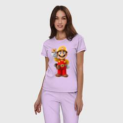 Пижама хлопковая женская Super Mario цвета лаванда — фото 2