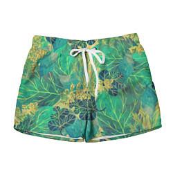 Женские шорты Узор из листьев