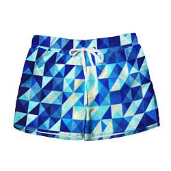 Женские шорты Синяя геометрия