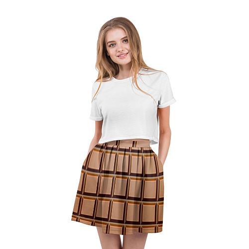 Женская юбка Шоколад / 3D – фото 3