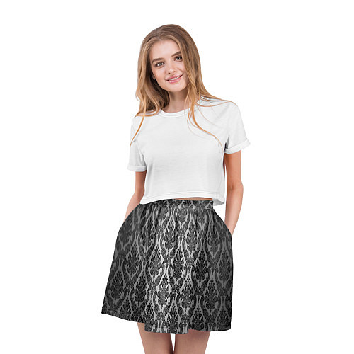 Женская юбка Гламурный узор / 3D-принт – фото 3