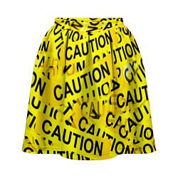 Юбка-солнце 3D женская Caution цвета 3D-принт — фото 1