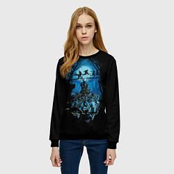 Свитшот женский Zombie Island цвета 3D-черный — фото 2