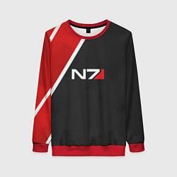 Свитшот женский N7 Space цвета 3D-красный — фото 1